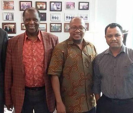 AFECoD Founder with Professor kahari ans the Dato Feroz.